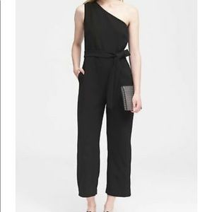 Banana Republic one-shoulder cropped jumpsuit